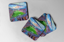 new tynecastle park Coaster set of four
